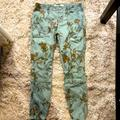 Anthropologie Jeans   Anthropologie Floral Pants   Color: Green   Size: 27p