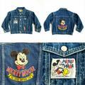 VTG Walt Disney Co Mickey Mouse Denim Jean Jacket