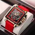 LIGE – montre à Quartz pour hommes, nouvelle marque de luxe, carrée, étanche, ajouré, Date Sport,