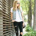 Madewell Jackets & Coats   Madewell Light Wash Clear Blue Denim Vest   Color: Blue   Size: Xs