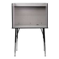 Flash Furniture Laminate Adjustable Height Study Carrel Laminate/Metal, Size 53.5 H x 35.75 W x 30.0 D in | Wayfair MT-M6221-SGLSC-GREY-GG