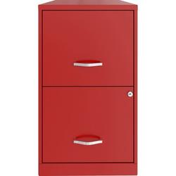 "Lorell SOHO 18"" 2-Drawer File Cabinet Metal/Steel in Red, Size 18.0 D in   Wayfair LLR14341RD"