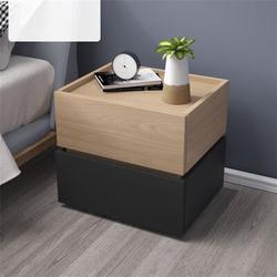 Latitude Run® 2 - Drawer Nightstand Wood in Black/Brown, Size 18.9 H x 17.72 W x 13.78 D in   Wayfair 597CC03AA1604134B7D23F09432C0208
