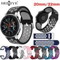 20 22mm Silicone Sport Montre Bande Pour Samsung Galaxy Watch 42/46MM/S3/4/4 Classique Huawei Watch
