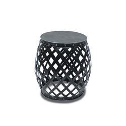 Dakota Fields Garden Gate Side Drum Table Metal in Black, Size 21.0 H x 20.0 W x 20.0 D in   Wayfair 44C7013500D342F0A09E292FB3F98CAA