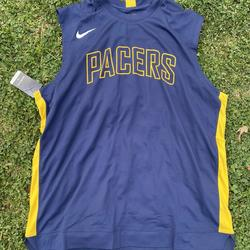 Nike Shirts | Nike Indiana Pacers Warm Up Jersey Player Issued | Color: Blue/Gold | Size: L