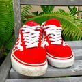 Vans Shoes | Mens Classic Red Checkered Lace Vans Skater Shoes | Color: Red/White | Size: 9.5