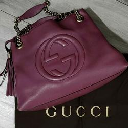 Gucci Bags | Gucci Soho Leather Bag | Color: Pink/Purple | Size: 15x10.5x5
