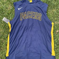 Nike Shirts   Nike Indiana Pacers Warm Up Jersey Player Issued   Color: Blue/Gold   Size: 3xl-Tall