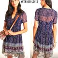Anthropologie Dresses   Anthro Maeve Adrian Tunic Dress Anthro.Comrare   Color: Blue/Red   Size: Xs
