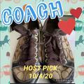 Coach Shoes | Coach Signature Size 7.5 Tennis Shoes | Color: Brown/Tan | Size: 7.5