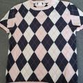 J. Crew Sweaters | J Crew Argyle Sweater | Color: Pink/White | Size: M