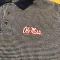 Nike Shirts | Ole Miss Navy & White Short Sleeve Polo Shirt | Color: Blue/Red/White | Size: M