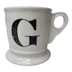 Anthropologie Kitchen | Anthropologie G Monogram Mug Initial Coffee Mug | Color: Black/White | Size: Os