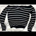 American Eagle Outfitters Sweaters   American Eagle Off The Shoulder Striped Sweater.   Color: Black/White   Size: L