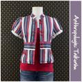Anthropologie Jackets & Coats | Anthro Ferryboat Jacket By Taikonhu | Color: Blue/Red | Size: 8