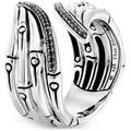 Sterling Silver Black Sapphire & Black Spinel Bamboo Bypass Ring - Black - John Hardy Rings
