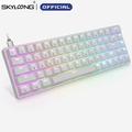SKYLOONG – clavier mécanique de jeu GK68, optique filaire, Programmable, rétroéclairage rvb,