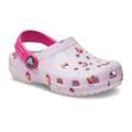 Crocs Ballerina Pink Kids' Classic Toddler Printed Clog Shoes