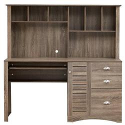 Loon Peak® Home Office Desk Computer Desk w/ Storage & Shelf Functional Writing Desk Letter-size Drawer,office Desk, Computer Desk, Writing Desk