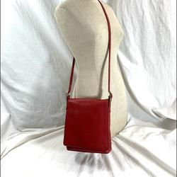 Coach Bags | Coach Red Slim Leather Shoulder Bag Crossbody Flap | Color: Red | Size: Medium