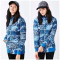 The North Face Jackets & Coats | North Face Anna Blue Leopard Print Quilted Jacket | Color: Black/Blue | Size: S