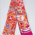Louis Vuitton Accessories | Authentic Louis Vuitton 100% Silk Square Scarf | Color: Orange/Purple | Size: 33 12 X 33 12