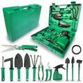 SSHAOSS Gardening Tools Set,14 Pieces Stainless Steel Garden Hand Tool, Garden Tools Set Gardening Gifts For Women,Men,Gardener (Dark Green) Wayfair