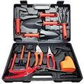 SSHAOSS Gardening Tools Set,13 Pieces Stainless Steel Garden Hand Tool, Garden Tools Set Gardening Gifts For Women,Men,Gardener (Red-13) | Wayfair