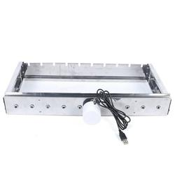 DALELEE 110V Portable Electric Barbecue Grill-BBQ Grill Stainless Steel Rolling Electric Automatic Shelf Camping Barbecue Tool Metal | Wayfair