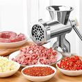 JGZ Manual Aluminum Alloy Meat Grinder w/ Tabletop Clamp Sausage Pasta Maker Pepper Spice Grinding Kitchen Home Tools in Gray | Wayfair JGZe00dce1