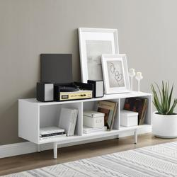 Liam Large Record Storage Console Cabinet White- Crosley CF1115-WH