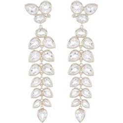 Sterling Silver Bezel Set White Topaz Graduated Chandelier Drop Earrings In White/silver At Nordstrom Rack - Metallic - Anzie Earrings