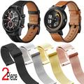 Bracelet milanais pour montre connectée Ticwatch Pro 3 2021 S2 E2 2 e Pro 2020 2019 GTX GPS, en cuir
