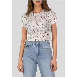 T-shirt Kebello Top Crop top Taille : F Blanc XS femme EU L