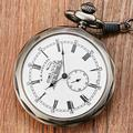 Montre de poche Antique en argent de londres pour hommes et femmes, montre mécanique avec pendentif