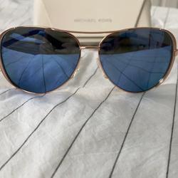 Michael Kors Accessories | Michael Kors Blue Aviators | Color: Blue/Gold | Size: Os
