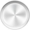 shanglixiansenxinmaoyi Pizza Pan, Stainless Steel Pizza Oven Pan Tray Round Pizza Baking Pan, Healthy & Durable in Gray   Wayfair