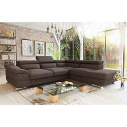 Orren Ellis Knab Sectional Sleeper Sofa, Left Corner Polyester/Polyester Blend in Brown, Size 16.14 H x 107.0 W x 22.0 D in | Wayfair