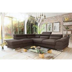 Orren Ellis Knab Sectional Sleeper Sofa, Left Corner Polyester/Polyester Blend in Brown, Size 16.14 H x 107.0 W x 22.0 D in   Wayfair
