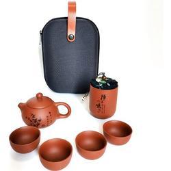 Red Barrel Studio® Chinese Tea Set Teapot Tea Cup Portable Travel Tea Set Handmade Gong Fu Tea Set Tea Pot Household Wine Set Chinese Tea Ceremony Gift Stoneware/Terracotta