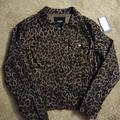 Nine West Jackets & Coats | Nine West Animal Print Jean Jacket | Color: Black/Brown | Size: S