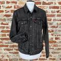 Levi's Jackets & Coats | Levi'S Black Denim Flannel Lined Jacket Snap Up Sm | Color: Black/Blue | Size: S