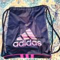 Adidas Bags | Adidas Dawstring Backpack | Color: Blue/Pink | Size: Os