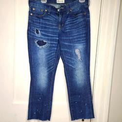 Madewell Jeans   Madewell Slim Boy Jean Distressed Denim Jeans   Color: Blue   Size: 27