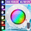 Lampe LED sous-marine pour piscine, imperméable conforme à la norme IP68, rvb, 35/45W, couleur