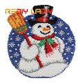 Kit de tapis Crochet à loquet, tapis de dessin animé, bonhomme de neige, Crochet, tapis 100%, fil