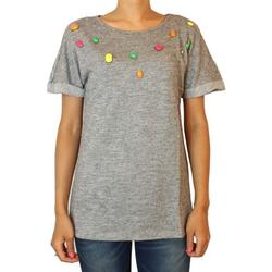 T-shirt Kebello Top Imagine Taille : F Gris S femme EU XS