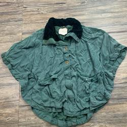 Anthropologie Jackets & Coats | Anthropologie Hei Hei Todra Poncho Cape Jacket | Color: Green | Size: S