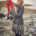 Anthropologie Jackets & Coats | Anthropologie Houndstooth Tie Waist Wool Coat | Color: Black/White | Size: Xs